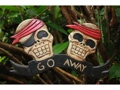 Go Away Pirate Sign 12 Pirate Decor