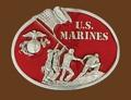 U.S. MARINE Belt Buckle 3 x 2-3/4
