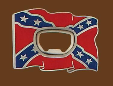 Rebel Flag opener Belt Buckle 3 x 2