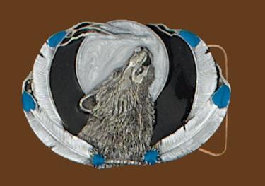 Wolf Belt Buckle 3-1/4 x 2-1/2