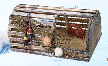 Lobster Trap 16 Inch x 9 Inch x 9 Inch Nautical Decor