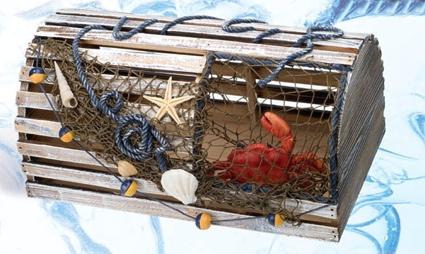 Lobster Trap 13 Inch x 6 Inch x 8 Inch Nautical Decor