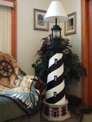 Deluxe Floor Lamp Lighthouse Decor