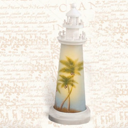 18 Inch Night Light Palm Trees Lighthouse Decor
