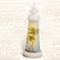 18 Inch Night Light Palm Trees Lighthouse Decor