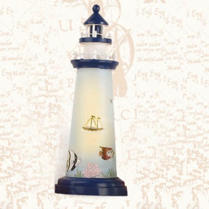 18 Inch Night Light Fish Lighthouse Decor
