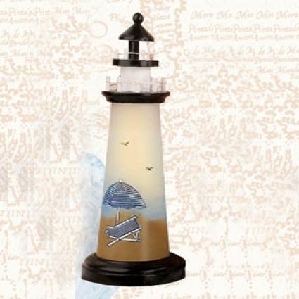 18 Inch Night Light Beach Chair Lighthouse Decor