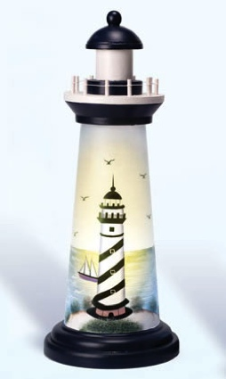 18 Inch Night Light Cape Hatteras Picture Lighthouse Decor