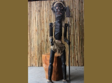 Primitive Male Tiki Warrior Chief 60 Tribal Tiki Decor