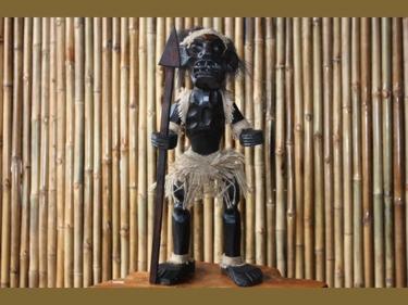 Primitive Male Tiki Warrior Chief 28 Tribal Tiki Decor