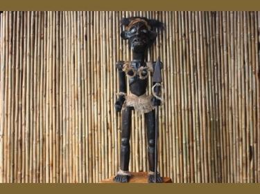 Primitive Female Tiki Warrior Chief 40 Tribal Tiki Decor