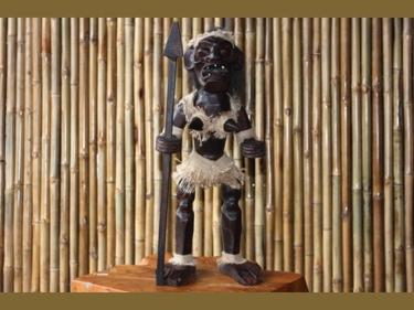 Primitive Female Tiki Warrior Chief 20 Tribal Tiki Decor