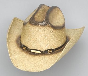 Straw Hat with Bone Band