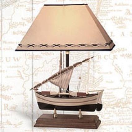 20 Inch Sailboat Lamp Nautical Decor