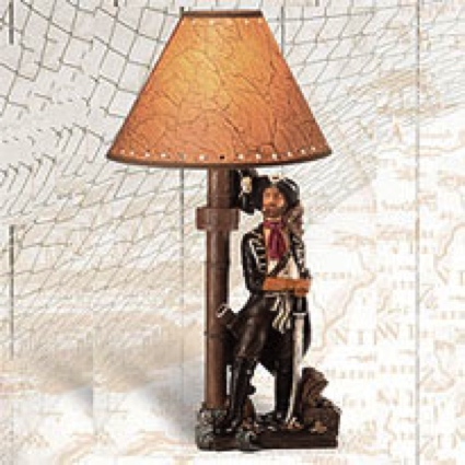 20 Inch Pirate Lamp Nautical Decor