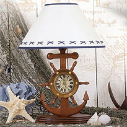 20 Inch Anchor WithClock Lamp Nautical Decor