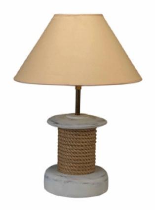 20 Inch Reel Lamp Nautical Decor