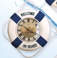 14 Inch Clock With Sailboat Dial Face Nautical Life Ring