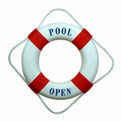 18 Inch Pool Open Closed Nautical Life Ring