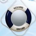 20 Inch Mirror Blue Nautical Life Ring