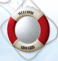20 Inch Mirror Red Nautical Life Ring