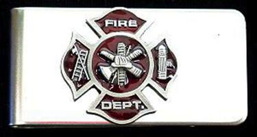 Fire Department Money Clip