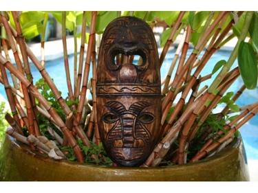 Fijian Tiki Mask 12 Love Prosperity Hand Carved