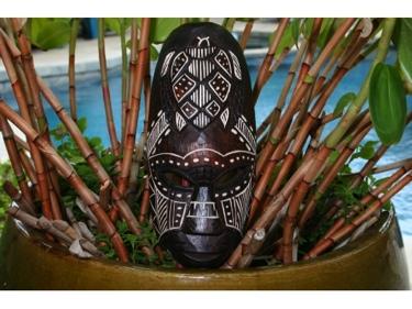 Fijian Tiki Mask W Carved Turtle 12 Love Polynesian Art