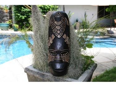 Fijian Tiki Mask W Carved Turtle 20 Love Polynesian Art