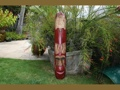 Fijian Tiki Mask W Carved Turtle 40 Ocean Polynesian Art