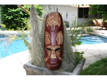 Fijian Tiki Mask W Carved Turtle 20 Ocean Polynesian Art