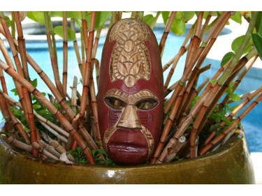 Fijian Tiki Mask W 2 Carved Turtles 12 Fishing Ocean Polynesian Art