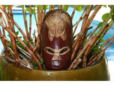 Fijian Tiki Mask W Carved Turtle 12 Lucky Polynesian Art