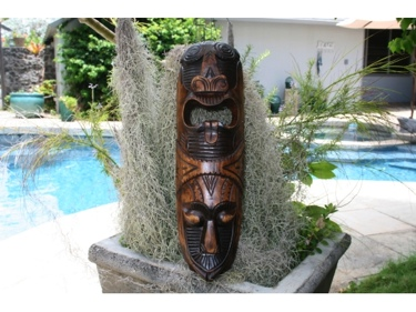 Fijian Tiki Mask W 2 Deities 20 Love Strength Polynesian Art
