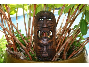 Fijian Tiki Mask W 2 Deities 12 Evil Hunter Polynesian Art