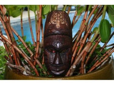 Fijian Tiki Mask W Turtle 12 Winner Tiki Hawaiian Decor