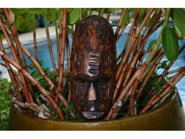 Fijian Tiki Mask W Turtle Nifo Oti 12 Hawaiian Decor