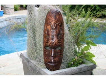Fijian Tiki Mask W Turtle Nifo Oti 20 Hawaiian Decor