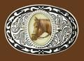 Belt Buckle Horseheads 3-1/2 x 2-3/8