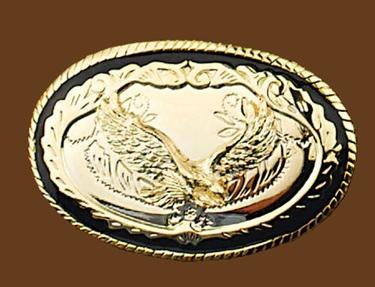 Gold Eagle Belt Buckle 3-7/8 x 2-1/2