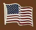 USA Flag Belt Buckle 3 x 2-1/2