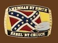American/Rebel by Choice Belt Buckle 3x2