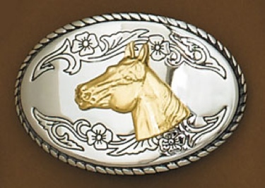 Horsehead Belt Buckle 3-1/2 x 2-1/2