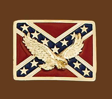 Rebel Eagle Belt Buckle 2-3/4 x 2