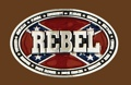 REBEL Belt Buckle 3-3/4 x 2-1/2 SILVER