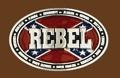 REBEL Belt Buckle 3-3/4 x 2-1/2 SILVER