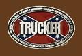 Trucker Belt Buckle 3-3/4 x 2-1/2 SILVER