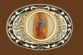 Virgin Mary Belt Buckle 3-1/2 x 2-3/8