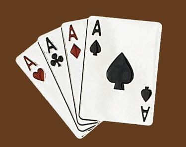4 Aces Belt Buckle 4 x 3