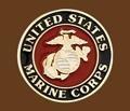 United States Marine Corps Belt Buckle Round 2-3/4 x 2-3/4